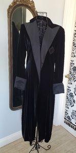 Ralph Lauren Couture black velvet trench